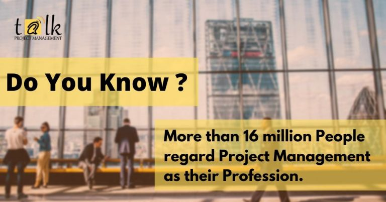 More than 16 million People regard Project Management as their Profession.